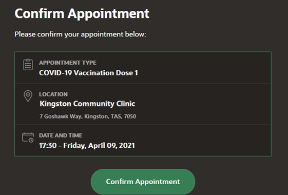 confirm appointment